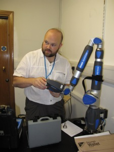 Installing the laser at the Royal College of Surgeons